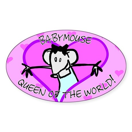 Babymouse QOW Oval Sticker