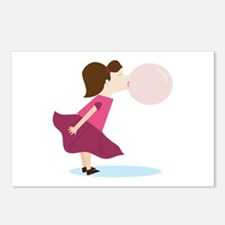Bubble Gum Girl Postcards (Package of 8)