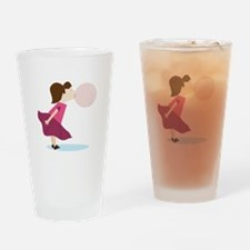 Bubble Gum Girl Drinking Glass