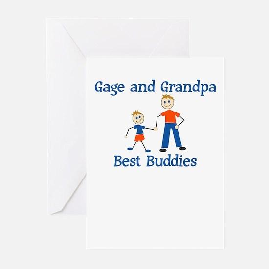 Gage & Grandpa - Best Buddies Greeting Cards (Pack