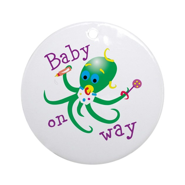 Bay on way octo ornament round by babybubbles2 - Ornament tapete weiay ...