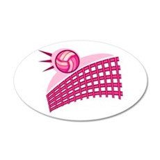Volleyball & net Wall Decal