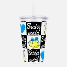 BLUE BRIDESMAID Acrylic Double-wall Tumbler