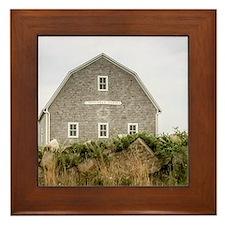 Block Island Barn Framed Tile