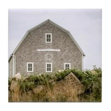 Block Island Barn Tile Coaster
