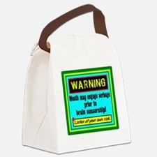 Uncensored Mouth Canvas Lunch Bag