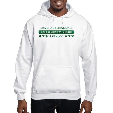 Hugged Caucasian Hooded Sweatshirt