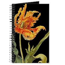Orange Tulip on Black Journal