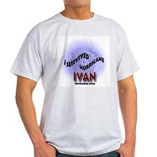 I Survived Hurricane Ivan Ash Grey T-Shirt