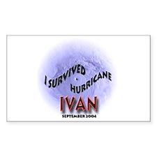I Survived Hurricane Ivan Sticker (Rect.)