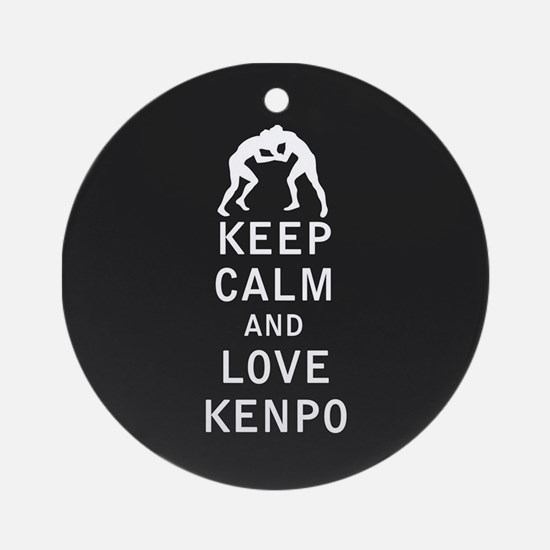 Keep Calm and Love Kenpo Ornament (Round)