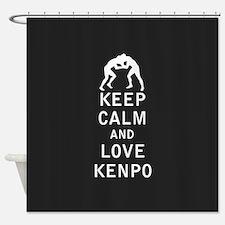 Keep Calm and Love Kenpo Shower Curtain