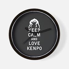 Keep Calm and Love Kenpo Wall Clock