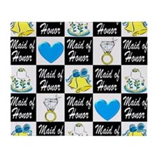 BLUE MAID OF HONOR Throw Blanket