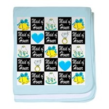 BLUE MAID OF HONOR baby blanket