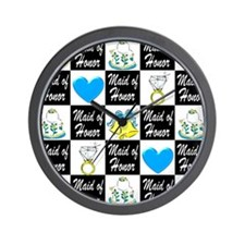 BLUE MAID OF HONOR Wall Clock