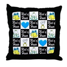 BLUE MAID OF HONOR Throw Pillow