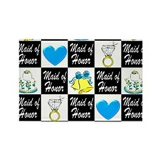 BLUE MAID OF HONOR Rectangle Magnet