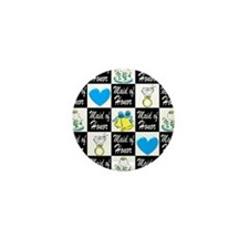 BLUE MAID OF HONOR Mini Button (10 pack)