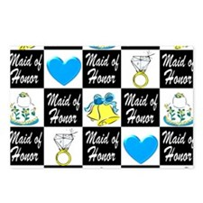 BLUE MAID OF HONOR Postcards (Package of 8)