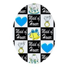 BLUE MAID OF HONOR Ornament (Oval)