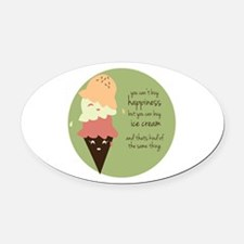 Buy Ice Cream Oval Car Magnet