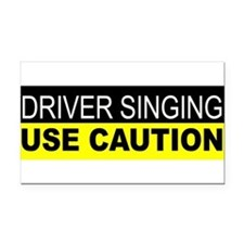 Unique Sing Rectangle Car Magnet