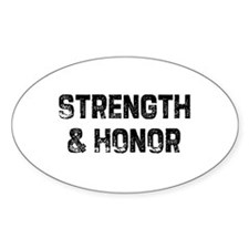 Strength & Honor Oval Decal