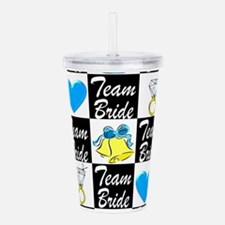 BLUE TEAM BRIDE Acrylic Double-wall Tumbler