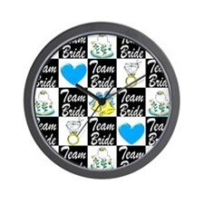 BLUE TEAM BRIDE Wall Clock