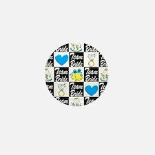 BLUE TEAM BRIDE Mini Button