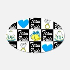 BLUE TEAM BRIDE Wall Decal