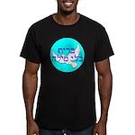 Hebrew 'Brit B'li Mila Men's Fitted T-Shirt (dark)