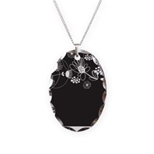 Black and White Floral Necklace