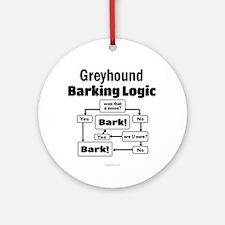 Greyhound logic Ornament (Round)