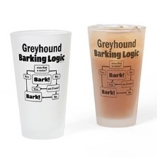 Greyhound logic Drinking Glass