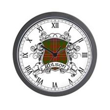 Wilson Tartan Shield Wall Clock