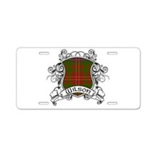 Wilson Tartan Shield Aluminum License Plate