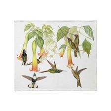 Hummingbirds & Datura Throw Blanket