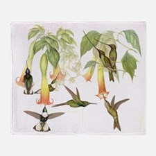 Hummingbirds & Datura Throw Blanket