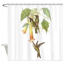 Hummingbirds & Datura Shower Curtain