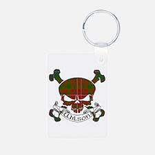 Wilson Tartan Skull Keychains