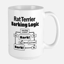 Rat Terrier logic Large Mug