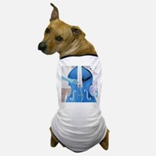 upright bass blue with hand Dog T-Shirt