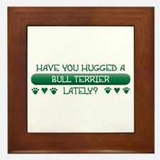 Hugged Terrier Framed Tile