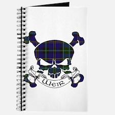 Weir Tartan Skull Journal