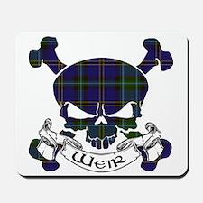 Weir Tartan Skull Mousepad