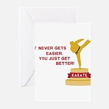 Karate Trophy Greeting Cards