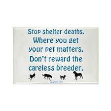 Stop Shelter Deaths Rectangle Magnet