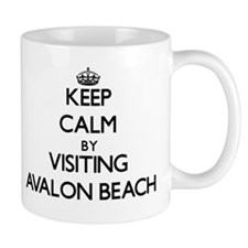 Keep calm by visiting Avalon Beach California Mugs